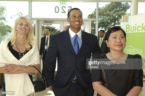 Elin Nordegren Tiger Woods and Kultida Woods