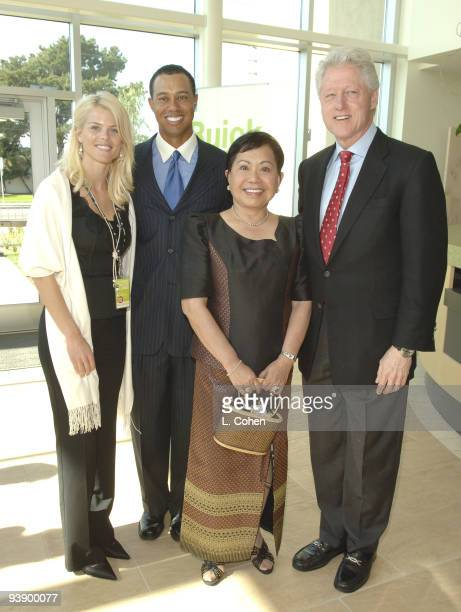 Elin Nordegren Tiger Woods Kultida Woods and Bill Clinton