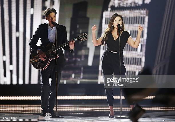 Elina Born Stig Rästa from Estonia perform during the first semifinal of the Eurovision Song Contest on May 19 2015 in Vienna The final of the 60th...