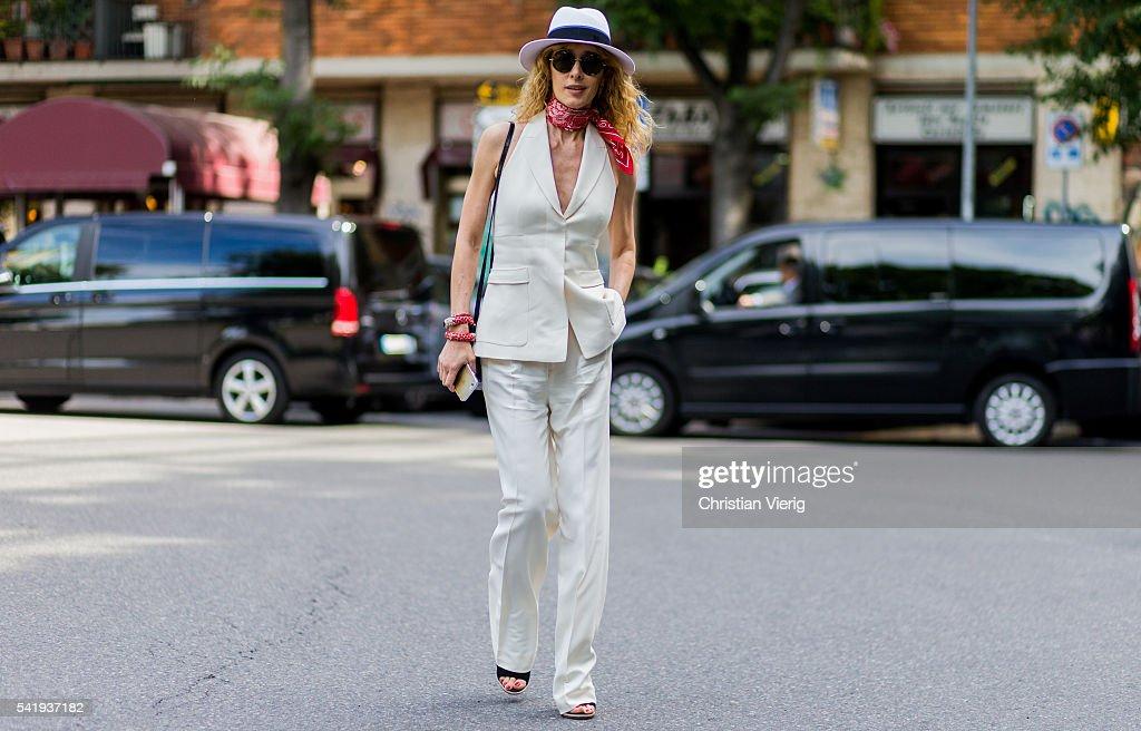 Street Style: June 21 - Milan Men's Fashion Week Spring/Summer 2017 : News Photo