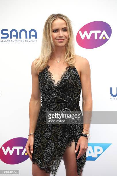 Elina Svitolina attends the Women's Tennis Association Tennis on The Thames evening reception at OXO2 on June 28 2018 in London England The event was...