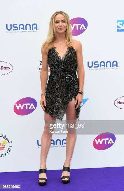 Elina Svitolina attends the WTA's 'Tennis On The Thames' evening reception at Bernie Spain Gardens South Bank on June 28 2018 in London England