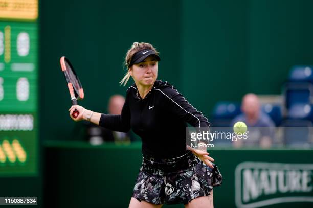 Elina Svitolina competes during her Round of 32 match against Margarita Gasparyan during the Nature Valley Classic Tennis Tournament at Edgbaston...