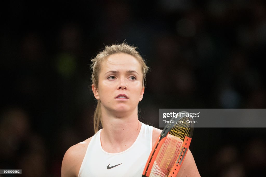 Elina Svitolina of the Ukraine in action while winning the Tie Break Tens Tennis Tournament at Madison Square Garden on March 5, 2018 New York City.