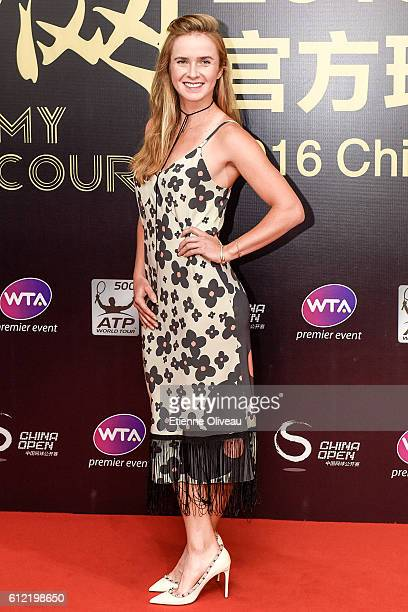 Elina Svitolina of Ukraine arrives at the 2016 China Open Player Party at The Birds Nest on October 3 2016 in Beijing China