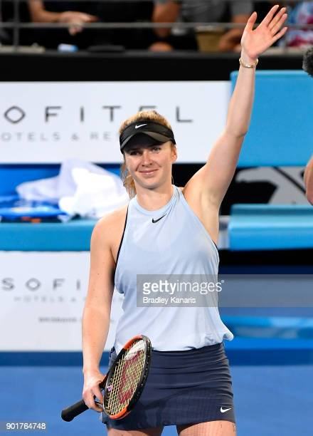 Elina Svitolina of Ukraine celebrates victory after the WomenÕs Final match against Aliaksandra Sasnovich of Bulgaria during day seven of the 2018...