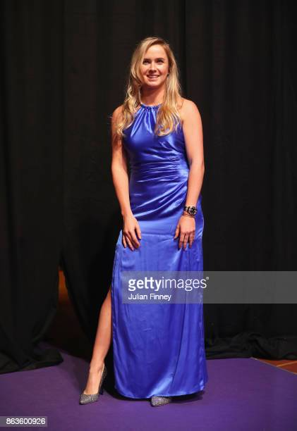 Elina Svitolina of Ukraine poses during the Official Draw Ceremony and Gala of the BNP Paribas WTA Finals Singapore presented by SC Global at Marina...