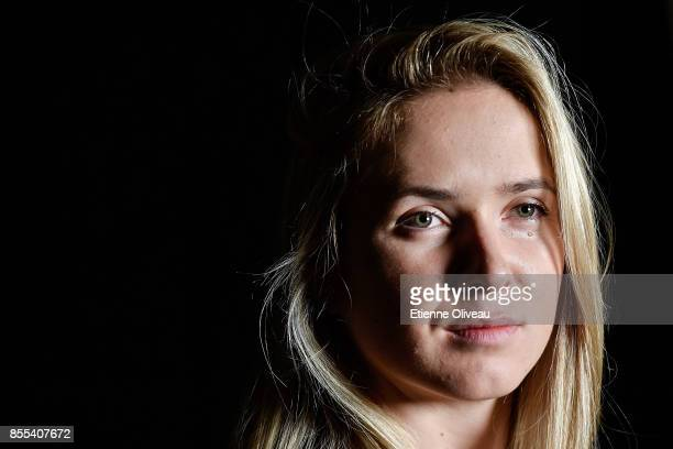 Elina Svitolina of Ukraine poses for a picture during the preview day of the 2017 China Open at the China National Tennis Centre on September 29 2017...