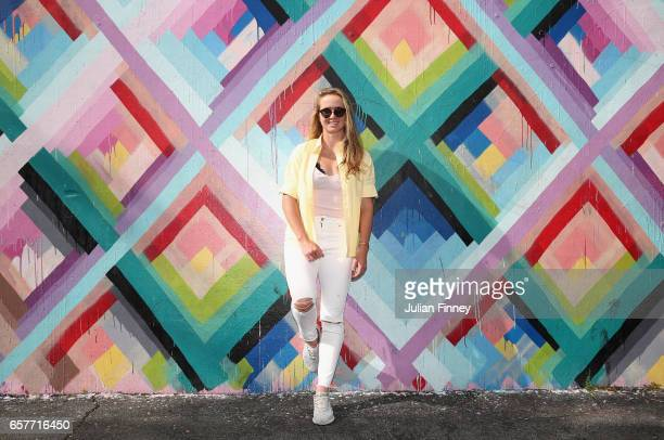 Elina Svitolina of Ukraine poses for a portrait at Wynwood Walls on March 24 2017 in Miami Florida
