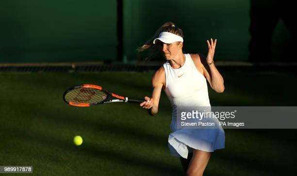 Elina Svitolina on day One of the Wimbledon Championships at the All England Lawn Tennis and Croquet Club Wimbledon