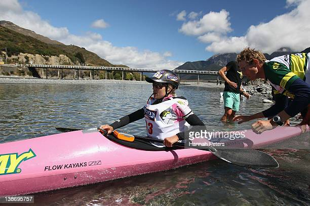 Elina Ussher of Nelson competes in the Individual One Day event during the 2012 Speights Coast to Coast on February 11 2012 in Greymouth New Zealand