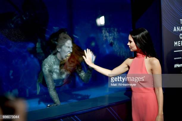 Eline Powell attends the POPSUGAR x Freeform Mermaid Museum VIP Night at Goya Studios on March 21 2018 in Los Angeles California
