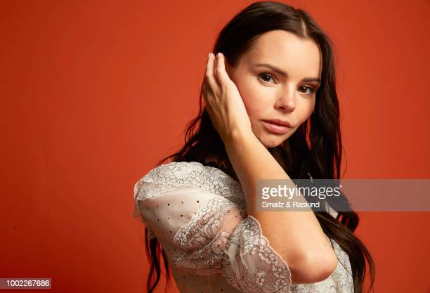 Eline Powell from Freeform's 'Siren' poses for a portrait in the Getty Images Portrait Studio powered by Pizza Hut at San Diego 2018 Comic Con at...