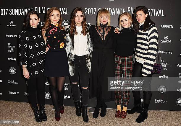 Eline Powell Morgan Saylor Liana Liberato Chelsea Lopez Maddie Hasson and Margaret Qualley attend the Novitate premiere during day 2 of the 2017...