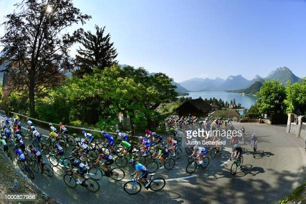 Elinor Barker of Great Britain and Team Wiggle High5 / Lorena Llamas Garcia of Spain and Movistar Team / Elena Cecchini of Italy and Canyon SRAM...