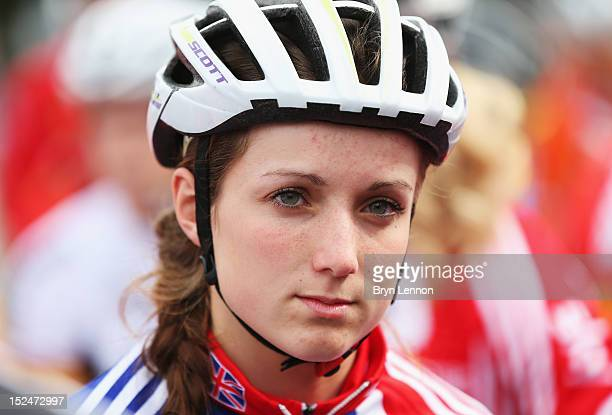 Elinor Barker of Great Britain prepares to start the Junior Women's Road Race on day six of the UCI Road World Championships on September 21 2012 in...