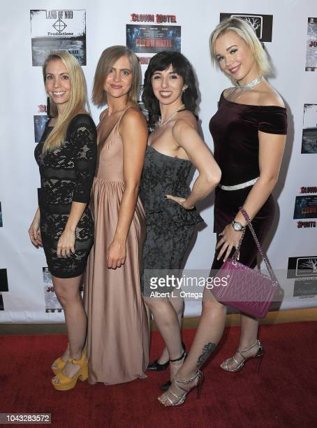 Elinor Erica Price Amanda Kott Angeline Mirenda and Alyssa Leonard arrive for the 'Clown Motel Spirit's Arise' Premiere held at Downtown Independent...