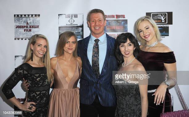 Elinor Erica Price Amanda Kott Joseph Kelly Angeline Mirenda and Alyssa Leonard arrive for the 'Clown Motel Spirit's Arise' Premiere held at Downtown...
