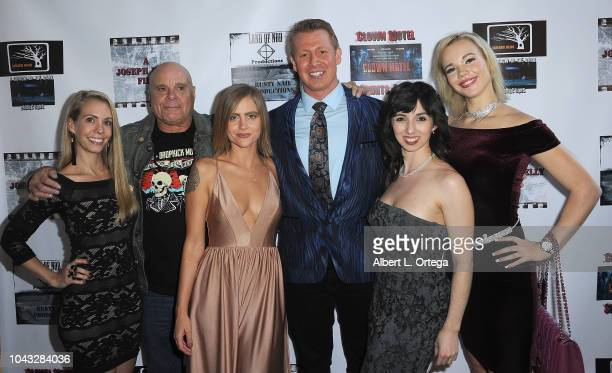 Elinor Erica Price Tony Moran Amanda Kott Joseph Kelly Angeline Mirenda and Alyssa Leonard arrive for the 'Clown Motel Spirit's Arise' Premiere held...