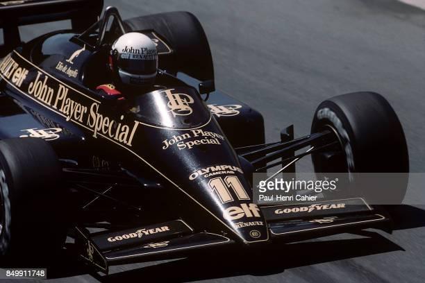 Elio de Angelis, Lotus-Renault 97T, Grand Prix of Detroit, Detroit street circuit, Detroit, Michigan, June 23, 1985.