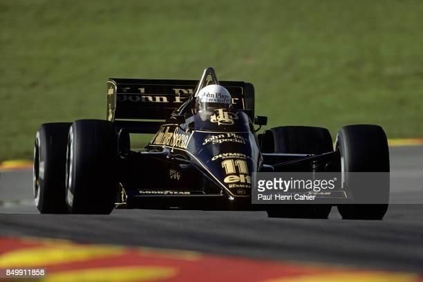 Elio de Angelis, Lotus-Renault 97T, Grand Prix of Great Britain, Silverstone Circuit, Silverstone, England, July 21, 1985.