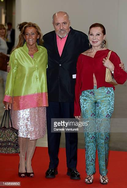 Elio Fiorucci and Michi Gioia attend the 2012 Convivio charity gala event on June 7 2012 in Milan Italy