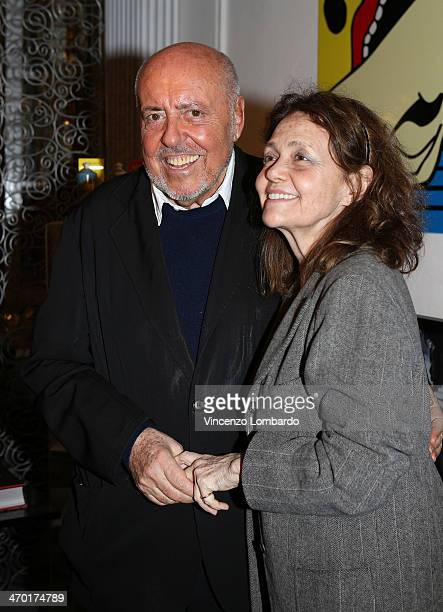 Elio Fiorucci and Milly Moratti attend the Art Therapy By Elio Fiorucci Milan Fashion Week Womenswear Autumn/Winter 2014 on February 18 2014 in Milan...