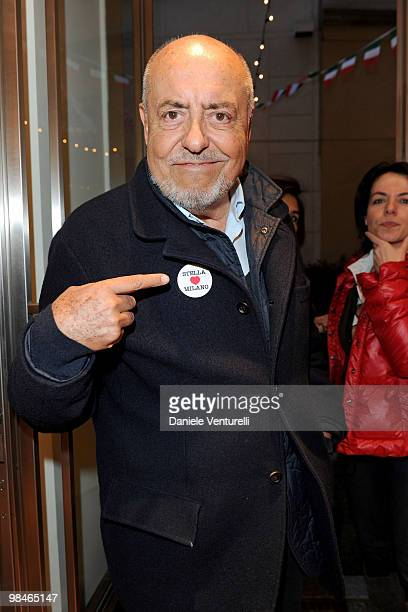 Elio Fiorucci attend the Stella McCartney flagship store opening party on April 14 2010 in Milan Italy