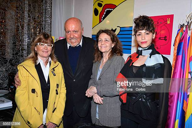 Elio Fiorucci Milly Moratti and Lidia Bosch attend the Art Therapy By Elio Fiorucci Milan Fashion Week Womenswear Autumn/Winter 2014 on February 18...