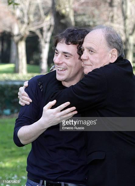 Elio Germano and Buno Ganz attend the 'La Fine E' Il Mio Inizio' photocall at Casa Del Cinema on March 25 2011 in Rome Italy