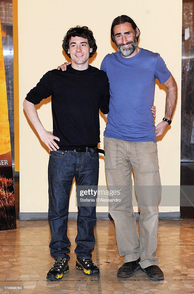 Elio Germano and Folco Terzani attend 'La Fine E' Il Mio Inizio' Milan Photocall held at Cinema Anteo on March 28, 2011 in Milan, Italy.