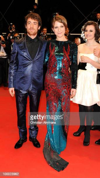 Elio Germano and Isabella Ragonese attends the 'Our Life' Premiere held at the Palais des Festivals during the 63rd Annual International Cannes Film...
