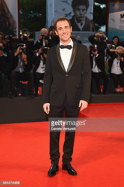 Elio Germano attends the 'Il Giovane Favoloso' premiere during the 71st Venice Film Festival at Sala Grande on September 1 2014 in Venice Italy