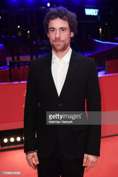 Elio Germano poses at the Bad Tales premiere during the 70th Berlinale International Film Festival Berlin at Berlinale Palace on February 25 2020 in...