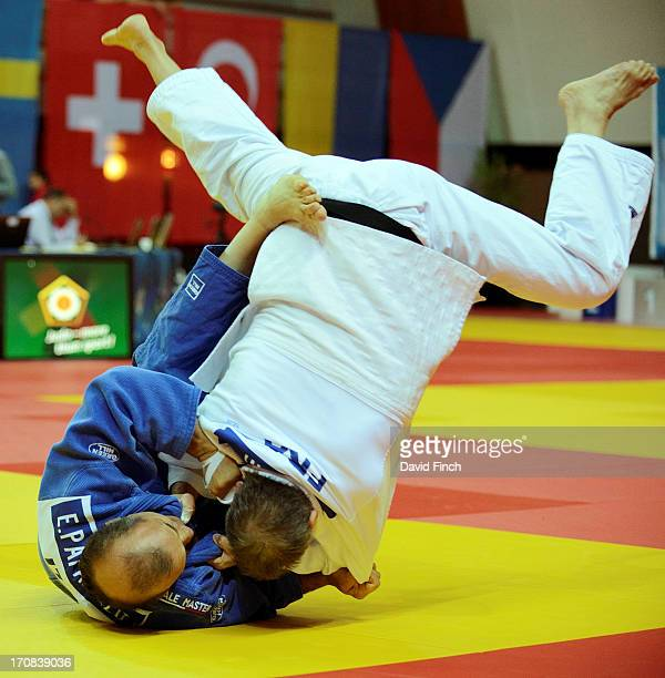 Elio Paparello of Italy defeated Didier Paltani of France with this stomach throw to win the M6 u73kgs bronze medal during day three of the 2013...