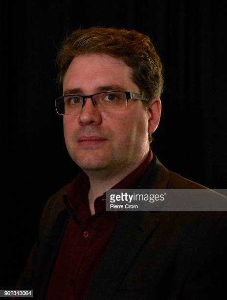Eliot Higgins from the citizen journalist's organisation Bellingcat is portrayed after a press conference in the Circus Theater about suspects...