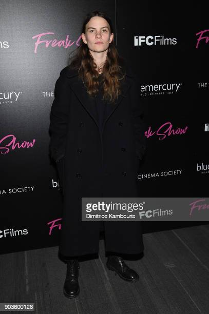 Eliot Sumner attends the premiere of IFC Films' 'Freak Show' hosted by The Cinema Society at Landmark Sunshine Cinema on January 10 2018 in New York...