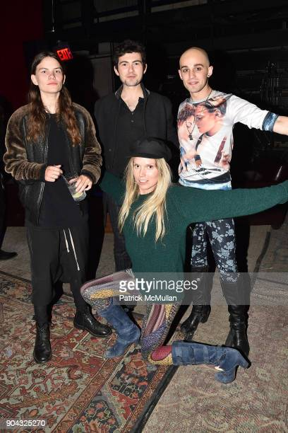 Eliot Sumner Ian Nelson Matthew ZanFagna and Theodora Richards attend The Cinema Society Bluemercury host the after party for IFC Films' Freak Show...