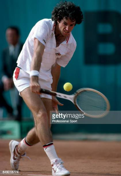 Eliot Teltscher of the USA in action during the French Open Tennis Championships at the Roland Garros Stadium in Paris circa May 1981 Teltscher lost...