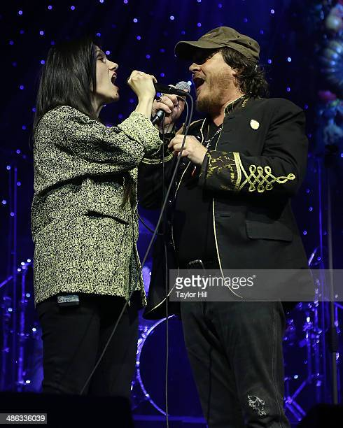 Elisa and Zucchero perform at The Theater at Madison Square Garden on April 23 2014 in New York City