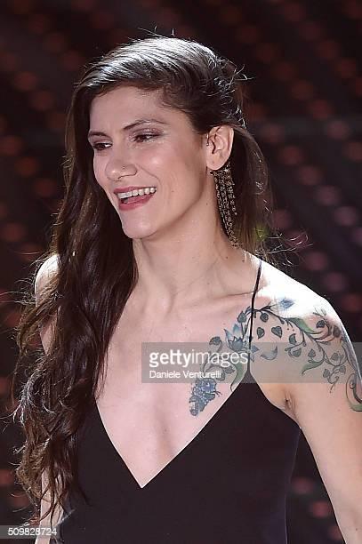 Elisa attends the fourth night of the 66th Festival di Sanremo 2016 at Teatro Ariston on February 12 2016 in Sanremo Italy