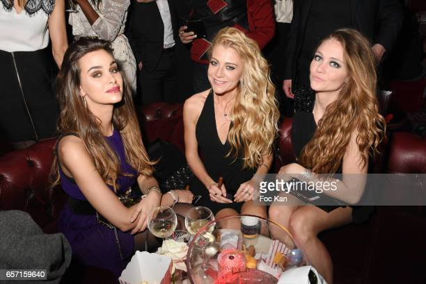 Elisa Bachir Bey Julia Battaia and Cyrielle Joelle attend Pink Paradise Club 15th Anniversary on March 23 2017 in Paris France