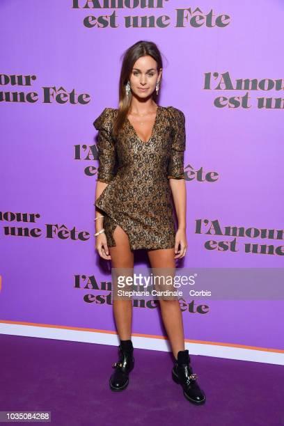 Elisa BachirBey attends L'amour Est Une Fete Paris Premiere at Cinema Max Linder on September 17 2018 in Paris France