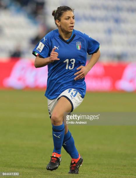 Elisa Bartoli of Italy looks on during the FIFA Women's World Cup Qualifier between Italy and Belgium at Stadio Paolo Mazza on April 10 2018 in...