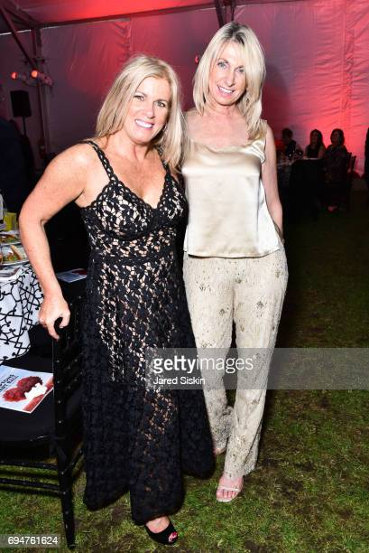 Elisa Belmonte and Barbara Traendly attend the 21st Annual Hamptons Heart Ball at Southampton Arts Center on June 10 2017 in Southampton New York