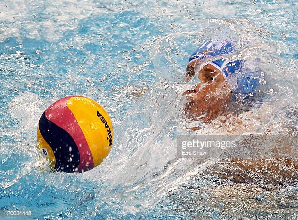 Elisa Casanova of Italy competes in the Women's Water Polo bronze medal match between Russia and Italy during Day Fourteen of the 14th FINA World...