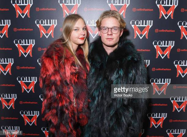Elisa Caterina Egger and Alexander Ow attend Collini Unminimal Party Milan Fashion Week Autumn / Winter 2019/20 on February 20 2019 in Milan Italy