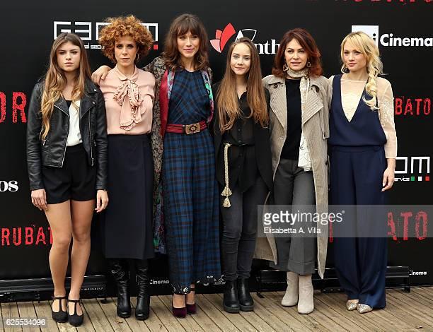 Elisa De Fabrizio, Cecilia Dazzi, Gabriella Pession, Elisabetta Mirra, Elena Sofia Ricci and Chiara Mastalli attend 'L'Amore Rubato Photocall' on...