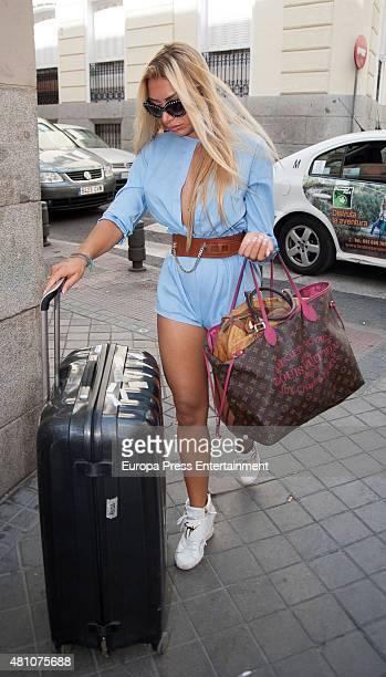 Elisa de Panicis is seen on July 16 2015 in Madrid Spain