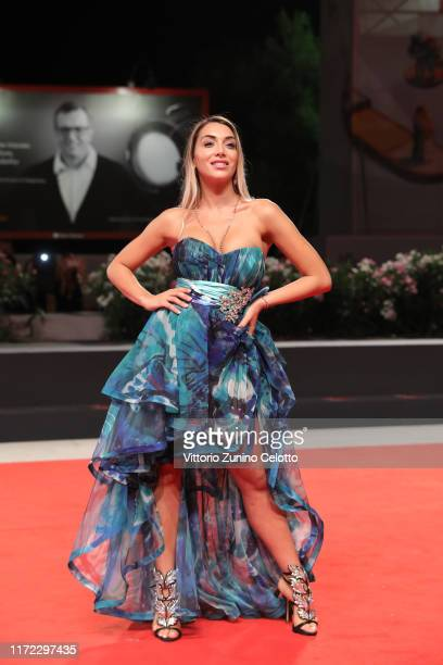Elisa De Panicis walks the red carpet ahead of the Mosul screening during the 76th Venice Film Festival at Sala Grande on September 04 2019 in Venice...